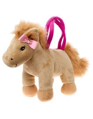 NWT Gymboree Plum Pony Horse Pony Plush Purse Toy Bag Girls