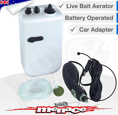 Bait Aerator Air Pump Fish Tank, Oxygen, Bubbles, Battery Car Charger Aquarium