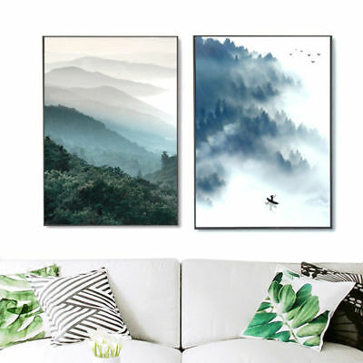 Modern Abstract Forest Art Painting Unframed Canvas Wall Pictures Home Decor S L