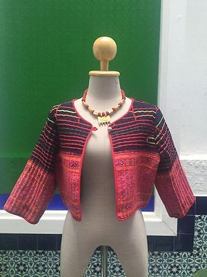 A classic women's outer wear/jacket with Asian hill tribe stitch decoratings
