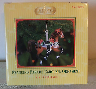 Breyer Horse Prancing Parade Carousel Ornament in Box Porcelain 6th in a Series
