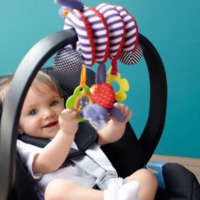 Baby Infant Toddler Rattles Plush Animal Stroller Hanging Bell Toy Bed Play Doll