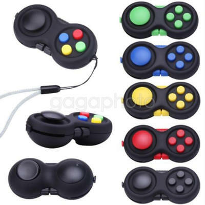 Fidget Hand Shank Pad Handle For Autism ADHD Relieves Stress Focus Desk Toys L W