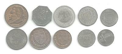 Lot Of 10 Different German Notgeld Coins (Gng 240)