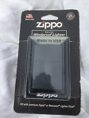 Zippo Windproof Lighter Regular Black Matt 218 NIB