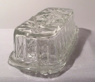 Crystal Cut Glass Floral Covered Butter Dish