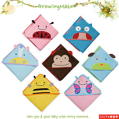 NEW Skip Hop Zoo Hooded KIDS Baby Bathing Towel Animal 100% Cotton SKIP*HOP