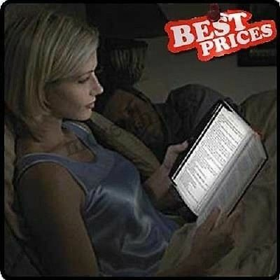 NEW LED Light Wedge Panel Book Reading Lamp Paperback Night Battery Powered