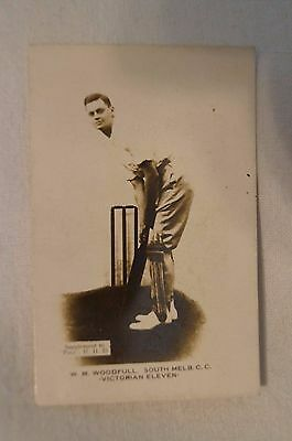 1923-24 - Rare - Vintage - Pals Cricket Card - Real Photo - W.M.Woodfull - Vic.
