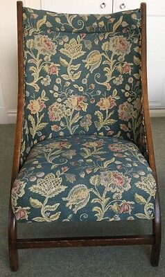 Atcraft Vintage Folding Beach / Nursery Chair With Floral Upholstery