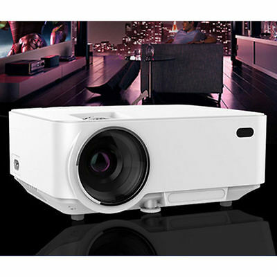 1080P HD Mini LED Projector Multimedia Home Cinema Theater /SD/AV/VGA/HDMI-in 1
