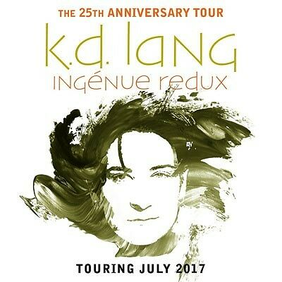 2X Kd Lang Tickets! Reserved Seating Stalls Sec 2 Third Row! Sydney 26 July