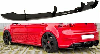 VW Golf MK5 5 Low Rear Bumper Diffuser Spoiler Lip Sport Valance Splitter R-Line