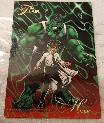 Marvel Flair #2 INCREDIBLE HULK 1994 Flair Trading Card