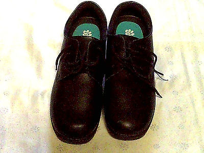 Ladies Grosbys Black Working Shoes New Size 10