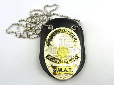 LAPS S.W.A.T. Los Angeles Police SWAT Department Badge With Holder & Chain