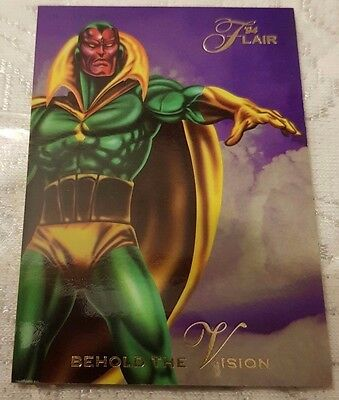 Marvel Flair #27 THE VISION 1994 Flair Trading Card
