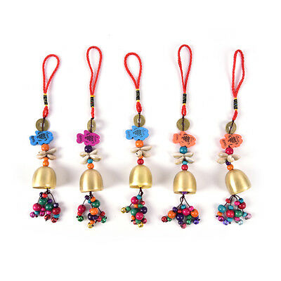 New Arrival Home Yard Garden Outdoor Bicycle Copper Bell Mobile Wind Chime YA