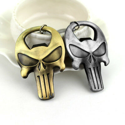 Skull Shaped Keychain Punisher Beer Bottle Opener Mask Key Ring Fashion Jewelry