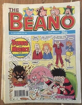 Beano Comics - 1991 Jan-Jun Issues (x25)