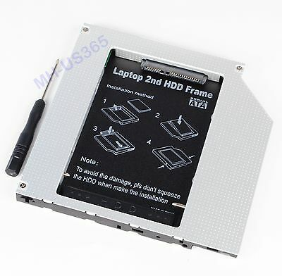 for HP Mobile Workstation 8710w 8510w PATA IDE 2nd HDD SSD Hard Drive Caddy Bay