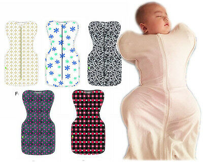 CLEARANCE Newborn baby infant cotton stretchy classic swaddle up sleeping bag so