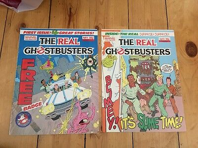 The Real Ghostbusters Comic Issues 1 and 3