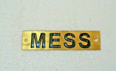 MESS – Marine BRASS Door Sign -  Boat/Nautical - 4 x 1 Inches (237)