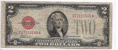 Vintage 1928D - $2 bill, Lincoln Red Seal