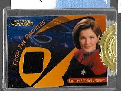 Captain Kathryn Janeway autograph costume relic Star Trek From the Archives