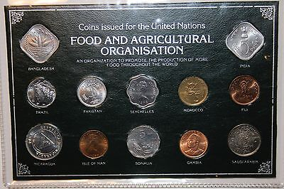 UNITED NATIONS FAO WORLD COIN SET RED ALBUM 1970's