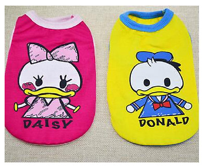 Tee shirt vêtement pour chien donald daisy disney taille XS chihuahua *NEUF*