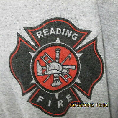 Reading Fire/Rescue, Ash Gray, Long Sleeve, XXL, NEW
