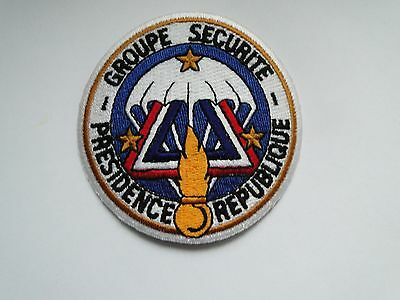 Aufnäher  Police France  Groupe Securite  Presidence Republique ca  8 cm