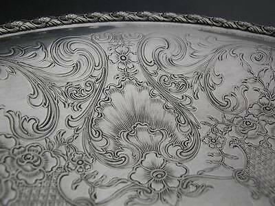 "Sterling INTERNATIONAL 9 5/8"" Serving Dish w/ scroll floral & shell pat. 11.50oz"