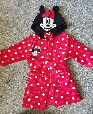 Minnie Mouse dressing gown 9- 12 months
