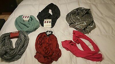 lot of 6 loop scarfs 4 are nwt