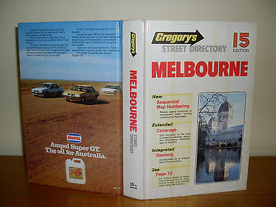 GREGORY'S 15th Edition Melbourne Street Directory 1984.   Excellent condition.