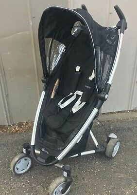 Quinny Zapp Black Single Seat Stroller With Travel Tote.