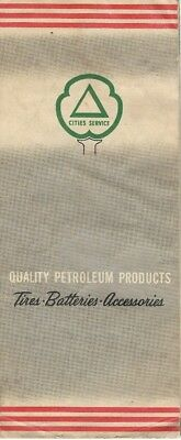 1955 CITIES SERVICE OIL COMPANY Road Map NEW JERSEY TURNPIKE Gas Station Locator