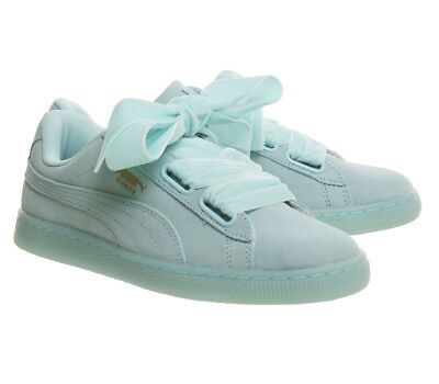 Womens Puma Suede Heart Trainers ARUBA BLUE Trainers Shoes