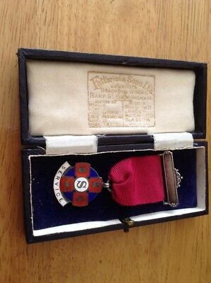 Solid Silver Service Medal