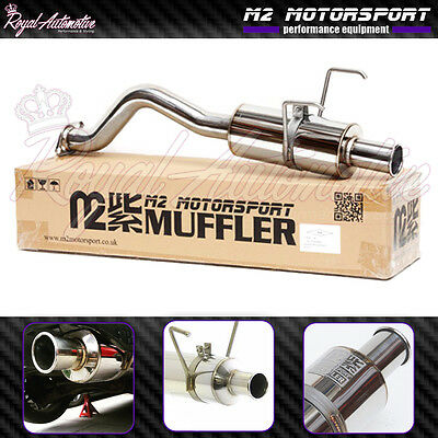 Honda Civic EP1 EP2 Spoon N1 Style Rolled Tip Performance Back Box Exhaust JDM