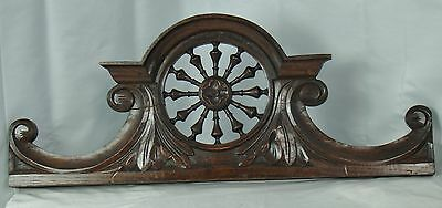 US0054 small Antique Wood Pediment: French Hand Carved Oak