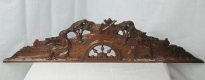 US0063 big Antique breton pediment (land scape)