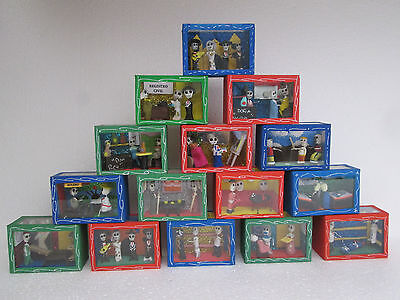 15 SHADOW BOX SET day of the dead nicho lot wholesale mexican handmade folk art