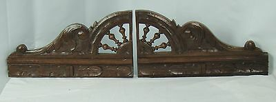 US0057  Antique double pediment or finals French Hand Carved Oak