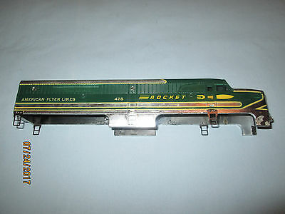 American Flyer #475 Rocket PA Diesel Locomotive Shell. 1953 Chrome Version