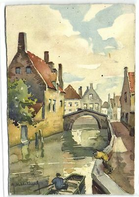 1 postkaart Bruges Le Vieux Canal