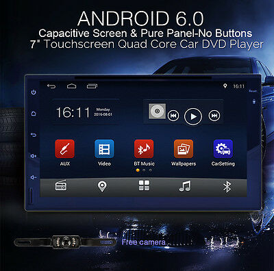 """Pure Android Quad Core 7"""" Double 2Din Car GPS Stereo Radio 3G WiFi Bluetooth+Cam"""